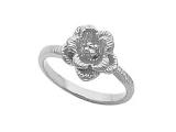 Diamond Promise Ring - Jewelry Stores - Rose Flower Diamond Ring