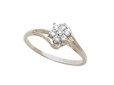 Diamond Promise Ring - Jewelry Stores - Diamond Cluster Ring