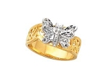 Diamond Promise Ring - Jewelry Stores - Butterfly Diamond Ring