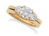 3 Stone Diamond Ring - Jewelry Stores - 3 Stone Diamond Semi Set Engagement Ring
