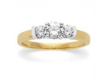3 Stone Diamond Ring - Jewelry Stores - 3 Stone Bridal Ring
