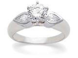 3 Stone Diamond Ring - Jewelry Stores - 3 Stone Diamond EngagementAnniversary Bridal Ring