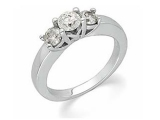 3 Stone Diamond Ring - Jewelry Stores - Diamond Anniversary 3 Stone Band