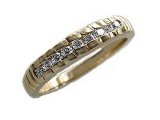 Mens Diamond Rings - Jewelry Stores - Mens Diamond Single Row Channel Set Ring