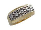 Mens Diamond Rings - Jewelry Stores - Mens Diamond 5 Stone Ring