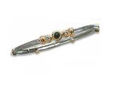 Emerald Bangles - Jewelry Stores - Three Stone Diamond and Emerald Two-tone Bangle