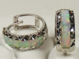 Gold But Gold - Jewelry Stores - Opal Huggies Hoop Earrings  approx. 9 mm to 12 mm Diameter