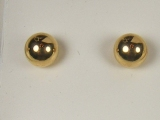 Yellow Gold Studs - Jewelry Stores - Yellow Polished Ball Studs Back Post