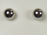 White Gold Studs - Jewelry Stores - White Polished Ball Studs Back Post