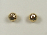 Yellow Gold Studs - Jewelry Stores - Yellow Rugged Ball Studs Back Post