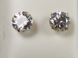 - Jewelry Stores - Round CZ Studs Back Post