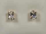 Yellow Gold Studs - Jewelry Stores - Princess CZ Studs Back Post